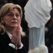 Feb. 2, 2012 - Naples, Italy - MIRJANA DRAGICEVIC-SOLDO prays during her apparition with thousands of people who arrived to watch. Dragicevic-Soldo claims she has visions of the Virgin Mary, who appears to her in apparitions.  (Credit Image: © Lapresse/UPPA/ZUMAPRESS.com)